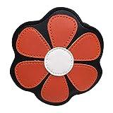 VADFLOD Flower Crossbody Geldbörse für Kinder Mädchen Mini Coin Purse Schultertasche Satchel Wallet, Orange