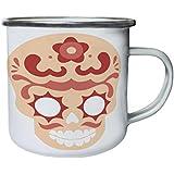 Cráneo De Azúcar 03 Retro, lata, taza del esmalte 10oz/280ml n993e