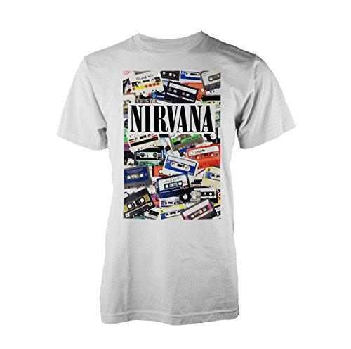 Nirvana Cassettes Camiseta Blanco XXL
