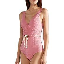 8543231aa15d Rawdah- Donna Bikini, Push up Imbottito Reggiseno Halter Straps Donna  Costumi Interi Halterneck Costume