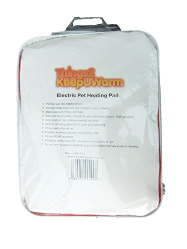 Electric-heat-pads-for-pets-extra-free-spare-fleece-cover-long-cable-in-black-40W-generous-heat