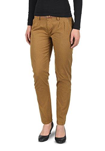 DESIRES Jacqueline Damen Chino Hose Stoffhose mit Gürtel aus 100% Baumwolle Slim Fit, Größe:42, Farbe:Cinnamon (5056)