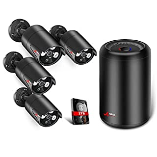 5.0MP PoE Security Camera System, ANRAN Surveillance DVR Kits with 4PCS CCTV Bullet IP Cameras, Remote Home Monitoring Systems with 2TB Hard Drive, Weatherproof, Remote Access, Motion Detection