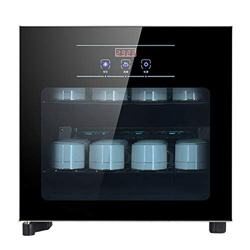 Preisvergleich Produktbild MXRqndqa Wärmegeräte Desinfektionsschrank für 30L-Teetassen mit Einem Gewicht von 6, 5 kg,  zweischichtiger 21-W-Schwarz-Desinfektionsschrank (größe : 3B-30L)