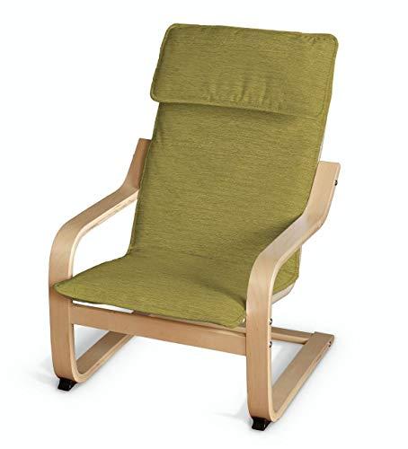 Dekoria Poäng Kissen für den Kindersessel Sesselhusse passend für IKEA Modell Klappsta grün