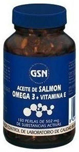 Aceite Salmón Omega 3 y Vitamina E 180 perlas de 500 mg de Gsn