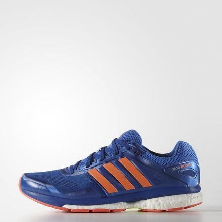 adidas Men's Supernova Glide Boost 7 M Blue, White and Solar Yellow Mesh Running Shoes - 6 UK  available at amazon for Rs.7199