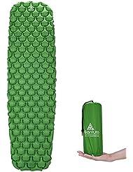 Hikenture - Colchón Hinchable para Dormir de Camping y colchón Hinchable – Compacto y a Prueba de