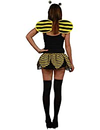 Adults Black & Yellow Bumble Bee Complete Tutu Fancy Dress Costume