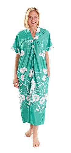 Fashion Friendly Flowing Long Aqua Kaftan with Front Zip, Sizes 8-36 (30)