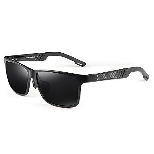 Moderne Himmel Sonnenbrille Schwarze Linsen frei, um Männer Drive Tourism Anti Glare Anti-UV Sonnenbrillen anpassen