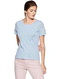 Amazon Brand - Symbol Women's Striped Loose Fit T-Shirt