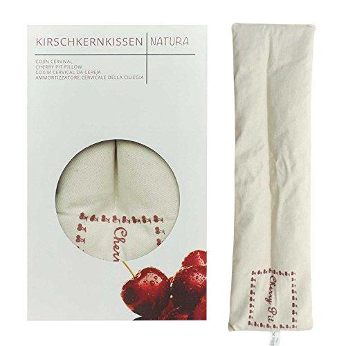UMOI Cuscino lungo con semi di ciliegia all'interno e con rivestimento naturale in cotone 100%
