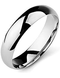 MunkiMix Ancho 5mm Acero Inoxidable Banda Venda Anillo Ring El Tono De Plata Alianzas Boda Hombre,Mujer