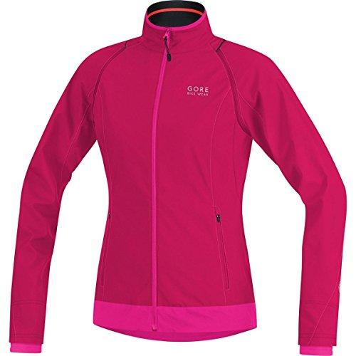 GORE BIKE WEAR 2 in 1 Damen Fahrradjacke, Super Leicht, Kompakt, GORE WINDSTOPPER, ELEMENT LADY WS AS Zip-Off Jacket, Größe: 38, Pink/Magenta, JWZLEL