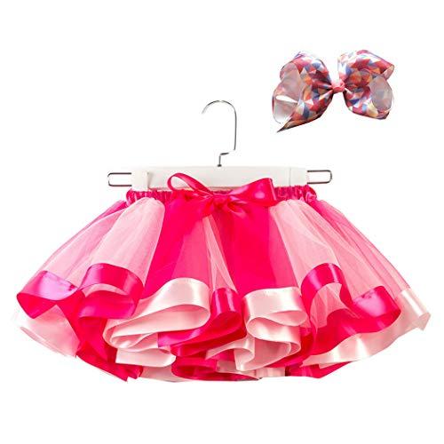 Kostüm Für Ballett Kleinkind - Mädchen Kinder Regenbogen Kostüm Set TüTü Rock Kleinkind Mädchen Ballett Kostüm Fotos mit Blume Stirnband für Tanz Party Karneval