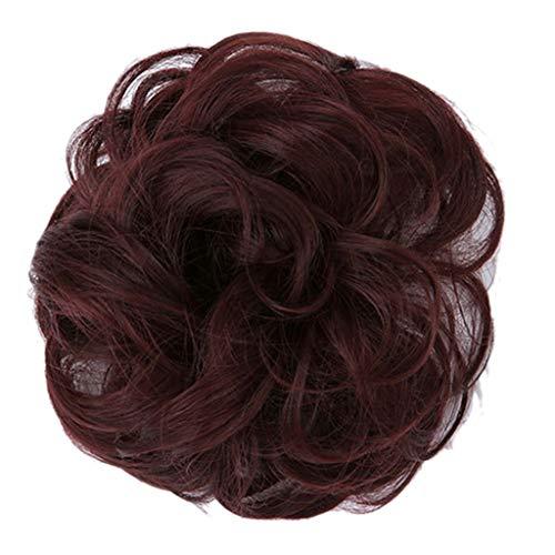 thaar Haarverlängerung Dutt Updo Pferdeschwanz elastisch gewellt dekorativ Haarteil Wrap Haargummis G ()