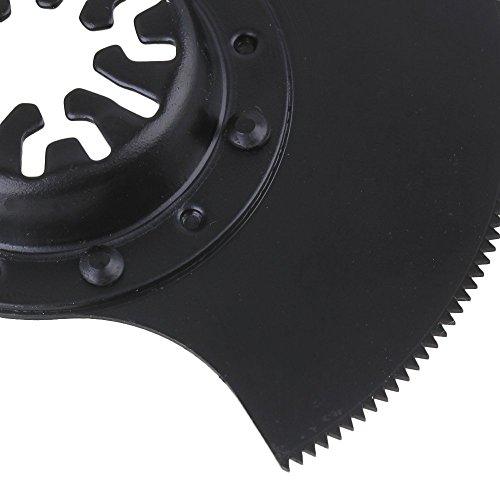 cnbtr 88mm schwarz universal Pendelndes Multitool Halbkreis Sägeblätter mit Senkkopf, schwarz