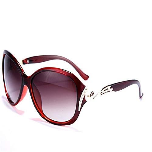 LAOBIAOZI Hot Polarisierte Sonnenbrille Frauen Sonnenbrille Uv400 Schutz Mode Sonnenbrillen Mit Strass Sonnenbrille Weiblich (Lenses Color : Dark brown 5118)