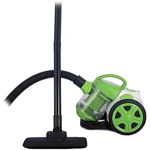 Aspiradora sin bolsa aspirador ciclonico filtro HEPA 1200W 34X22X27cm verde