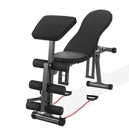 GYFHMY 5-in-1-Multifunktions-Sitzbank, zusammenklappbare Fitness-Workout-Bänke für das Gewichtstraining,