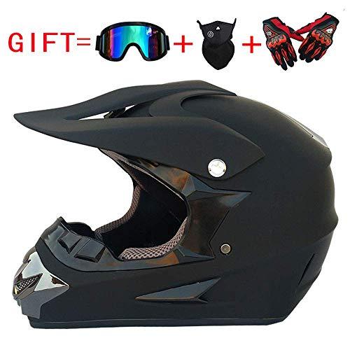 WSFF-Fan Erwachsenen Motorrad Motocross Motorradhelm D.O.T Approved Fuchsia Blue ATV Roller Helm mit Brille für Offroad Handschuhe und Maske (S, M, L, XL),S(55~56)