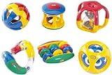 TOLO 'Baby-Rasselset' - 6tlg. farbenfrohes Set mit verschiedenen Rasseln