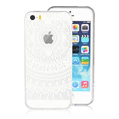 DENDICO Funda iPhone 5 / 5s Carcasa iPhone SE Silicona Ultra Delgado de Estuche Funda Transparente Suave TPU para Apple iPhone 5 / 5s / SE -Blanco