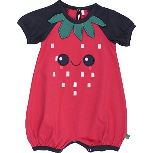 Fred'S World By Green Cotton Strawberry Beach Body, Bébé Fille, Bleu (Navy 019392001), 18 Mois