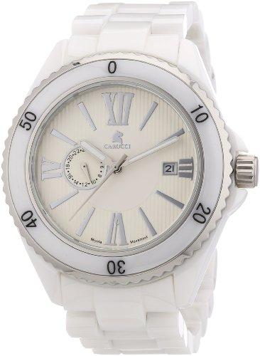 Carucci Watches CA7112WH - Orologio da polso uomo, ceramica, colore: bianco