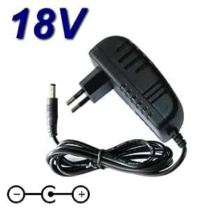 Adaptateur Secteur Alimentation Chargeur 18V pour Remplacement modèle ZH018001000