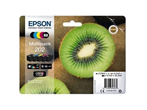 Epson 202 Serie Kiwi, Cartuccia originale getto d'inchiostro Claria Premium, Formato Standard, Multipack 5 Colori
