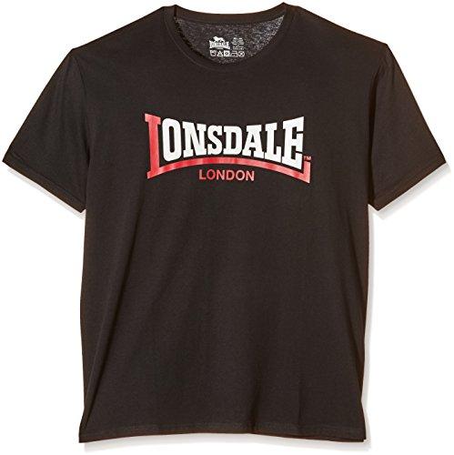 Lonsdale Men's Two Tone T-Shirt a Manica Corta da Uomo, Colore Nero (Black), Taglia X-Large