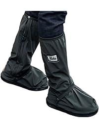 Botas impermeables, fundas de lluvia para zapatos, color negro, antideslizantes, reutilizables, para mujeres y hombres, negro, X-Large