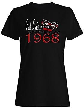 Damas de gato nacen en 1968 camiseta de las mujeres b805f