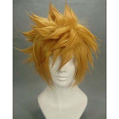 HJL-cosplay cheveux chez l'homme jeune Mao perruque Couleur du c?ur du roi , yellow