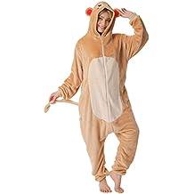 35dbaf6fac corimori Louis el Mono Pijamas Animal Traje De Una Pieza Disfraz Adultos  Invierno Color marrón Talla