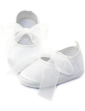 Hongfei Zapatos de niña Zapatos bowknot de cinta de niño recién nacido infantil
