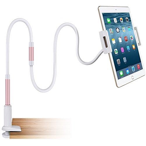 Mopoin Schwanenhals iPad Halterung,Handy Halterung Tablets Halterung Einstellbare Tablets Telefon halterung,360 Drehen für 4-10.5 Zoll Kompatibel mit den meisten Mobiltelefonen und Tablets,Roségold