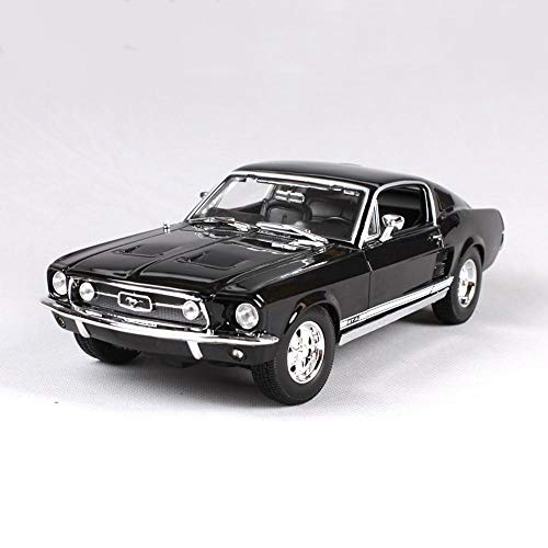 Haixin 1967 Ford Mustang GTA Simulated Alloy Car, Nero e Verde, 1:18