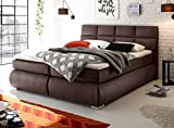 Froschk nig24 Kosali 180x200 cm Boxspringbett Bett mit Bettkasten Dunkelbraun, Ausf hrung Variante 3