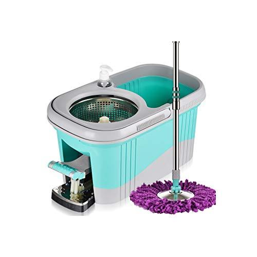 Secchio Rotante per zazzera Mop Girevole a 360 ° per Uso Domestico