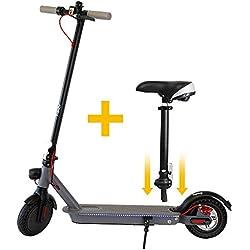 Hiboy E-Scooter mit Sitz, Cityroller Erwachsene Elektroroller Folding, 30 Km Reichweite, 25km / h, E-Scooter Modell HI, Schwarz