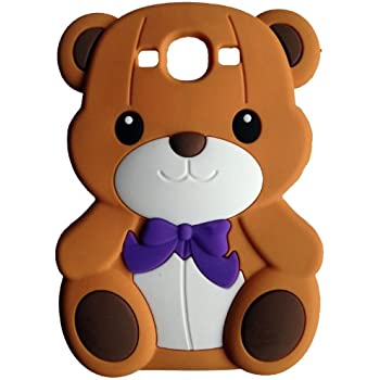 SKS Distribution® brun Silicone mignon Ours Bow Bear Etui Coque Housse Pour Samsung Galaxy S3 I9300