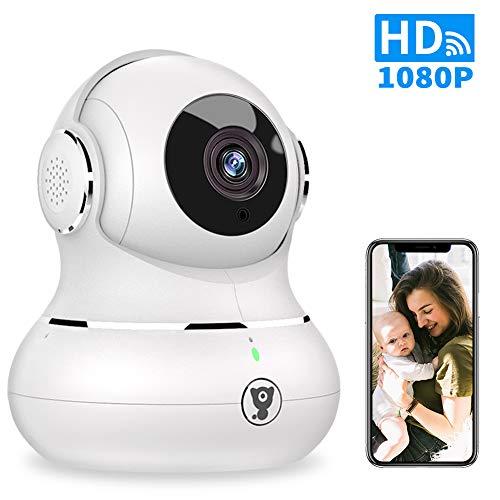 Überwachungskamera Innen WLAN Handy, Littlelf 1080P WLAN IP Kamera mit Zwei Wege Audio, Bewegungserkennung, Nachtsicht, Baby/Haustier/Zahause Monitor, Unterstützt Fernalarm, SD-Card und Cloud-Speicher