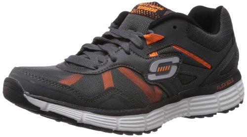Skechers AgilityVictory Won, Baskets mode homme Gris (Ccor)