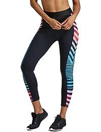 Pantalones Deportivos Mujer Fitness,Costura de Malla Raya Yoga Fitness  Leggings Running Gym dd0f36f01224