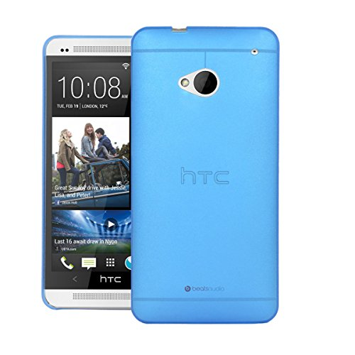 HTC One M7 Back Cover, Ultra Slim Frosted Case Back Cover for HTC One M7 (Blue) - By SNE  available at amazon for Rs.199