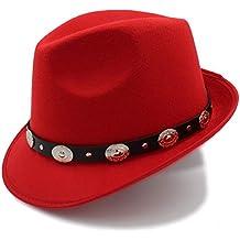 YQXR Moda Sombreros Sombrero de lana para mujer de moda Sombrero de Panamá Sombrero de invierno