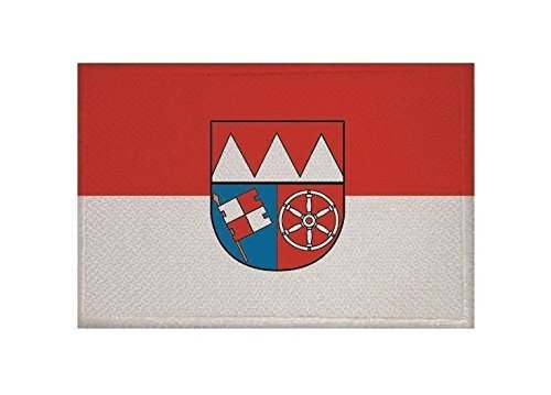 UB Aufnäher Unterfranken Flagge / Fahne Aufbügler Patch 9 cm x 6 cm Neuware!!!
